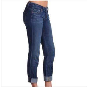 Paige Dark Wash Boyfriend Canyon Jeans Size 27